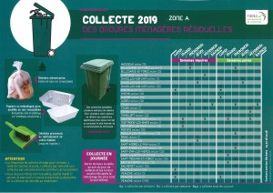 CALENDRIER COLLECTE 2019 ORDURES MENAGERES