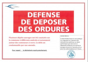 defense deposer ordures
