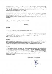 ARRÊTÉ N°DS 509-2020 P.2